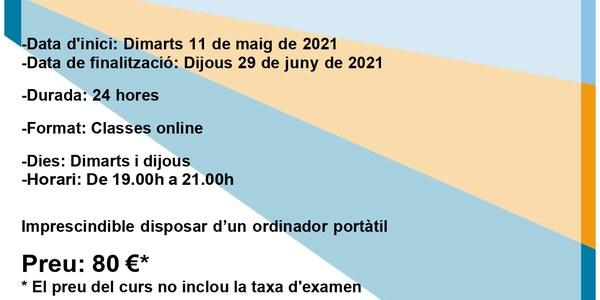 El curs d'ACTIC avançat començarà el dia 11 de maig de 2021