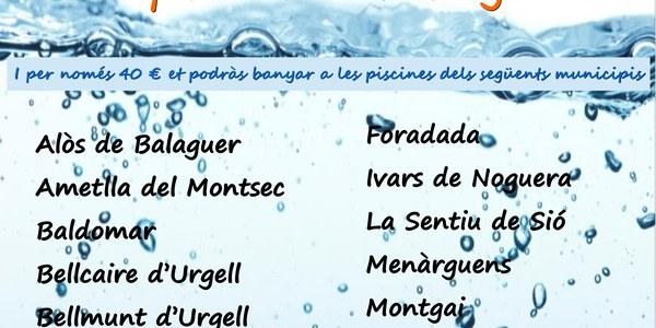 El carnet Interpiscines permetrà l'accés a 19 piscines de la Noguera, tres més que l'any passat