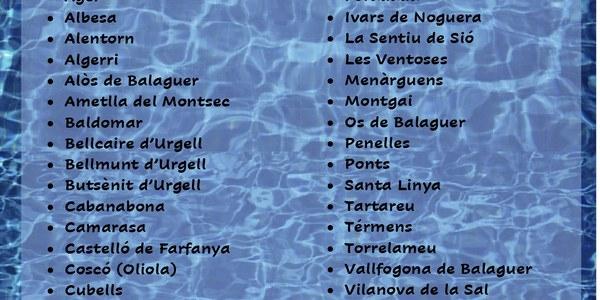Una trentena de piscines de la Noguera se sumen a l'Interpiscines, que canvia de format a causa de la Covid-19